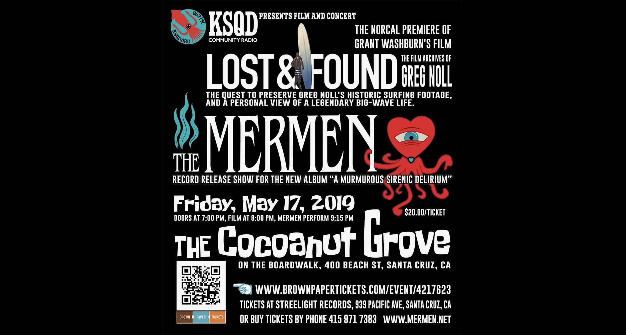 KSQD Presents The Mermen Album Release Party