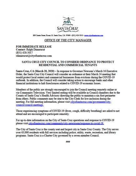 city council press release