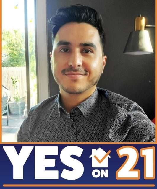 Rene Moya talks about money in politics, housing, and the CA proposition 21 campaign