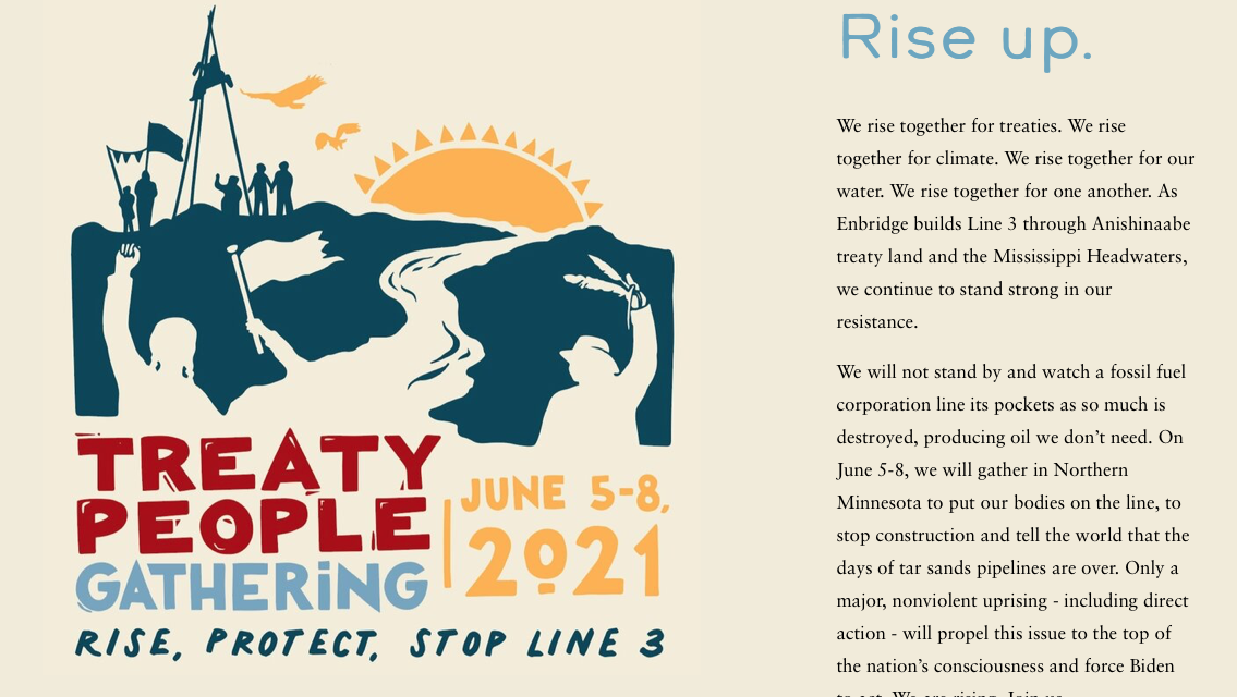 Standing Against Enbridge Line 3: The Treaty People Gathering